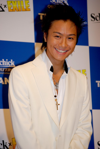 『Schick』の記者発表会に出席したTAKAHIRO