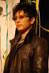 NHK大河ドラマ『風林火山』のクランクアップ後の会見に出席したGackt