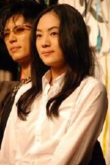 NHK大河ドラマ『風林火山』のクランクアップ後の会見に出席した柴本幸