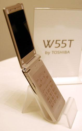 薄さ9.9mmの超薄型携帯『W55T』