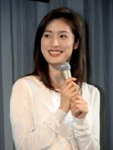 東芝『ecoスタイル』のキャンペーンキャラクター&CM発表会に出席した天海祐希