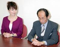 大橋アナに「不愉快」と一蹴されうなだれる碑文谷潤教授