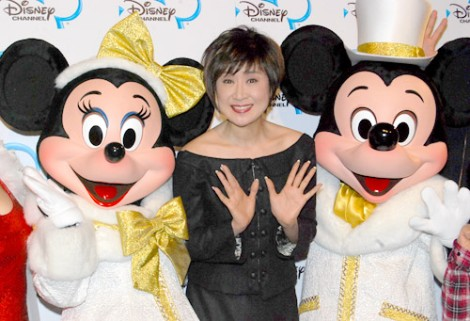 小林幸子とミッキー、ミニー(c)Disney