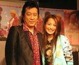 高橋ジョージ・三船美佳 夫妻(07年3月11日、映画「ラッキー・ロードストーン」DVDイベントの時の様子)