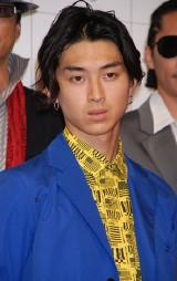 『龍が如く 見参!』完成披露会に出席した松田翔太