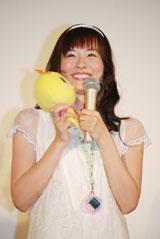 映画『えいがでとーじょー!たまごっち ドキドキ!うちゅーのまいごっち!?』の初日舞台挨拶に出席した皆藤愛子