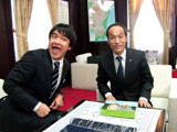 対面を果たしたたむらけんじ(左)と東国原英夫・宮崎県知事(右)