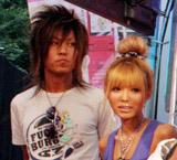 結婚を発表した益若つばさと梅田直樹のツーショット(※7月16日に行われた、『待ちデコ』サービス開始記念イベント時の2人)