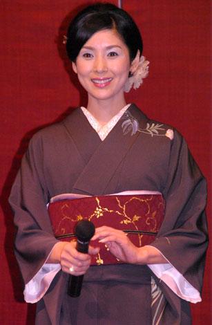 黒木瞳(07年6月8日、映画『怪談』j舞台挨拶の様子)
