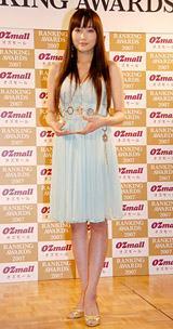 WEBサイト『オズモール ランキングアワード2007』の授賞式に出席した佐藤江梨子