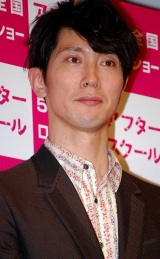 映画『アフタースクール』の完成披露試写会に出席した佐々木蔵之介