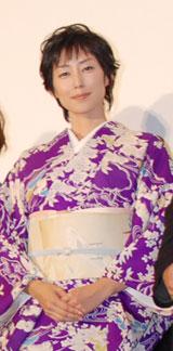 8月4日(土)に行われた映画『怪談』初日舞台挨拶での木村多江