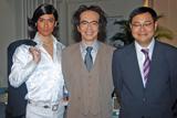 NHK総合のバラエティー『サラリーマンNEO』の取材会に出席した(左から)沢村一樹、生瀬勝久、田口浩正