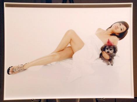 『チャリティ・ヌード写真展forピンクリボン』でセミヌードを披露した秋吉久美子