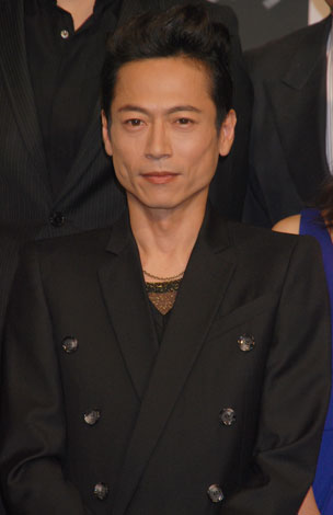 WOWOW初の連続ドラマ『パンドラ』制作報告会に出席した三上博史