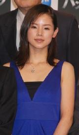 WOWOW初の連続ドラマ『パンドラ』制作報告会に出席した小西真奈美
