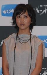 WOWOW初の連続ドラマ『パンドラ』制作報告会に出席した谷村美月