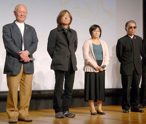 (左から)ちばてつや、あだち充、高橋留美子、藤子不二雄A