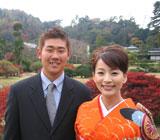 婚式での2ショット写真