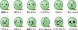 用意されている全12種類の顔