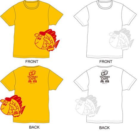 およげ!たいやきくん×TOWER RECORDS Tシャツ