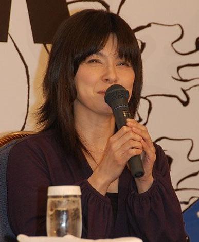『五右衛門ロック』の製作発表に出席した高田聖子