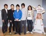 左から中西哲生、オリエンタルラジオ、高橋陽一、元サッカー日本代表・北澤豪