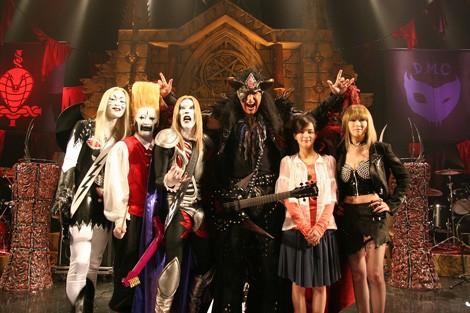 ジーン・シモンズの撮影は3月に東京で行われた。(C)2008「デトロイト・メタル・シティ」製作委員会