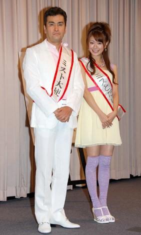 映画『ミスト』の試写会トークイベントに登場した石原良純と八田亜矢子