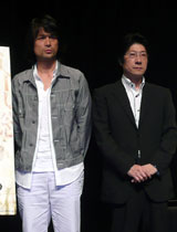 江口と阪本監督のツーショット
