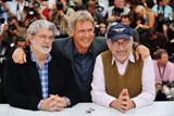 カンヌに揃ったジョージ・ルーカス、ハリソン・フォード、スティーブン・スピルバーグ(左から)