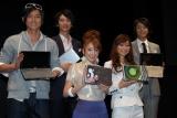 人気モデルが勢揃い(左から肥野竜也、REN、土岐田麗子、池田沙絵美、敦士)
