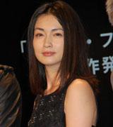 映画『レイン・フォール/雨の牙』の制作発表会に出席した長谷川京子