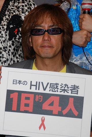 『RED RIBBON TALK & LIVE〜HIV検査に行こう!〜』の会見に出席した山本シュウ