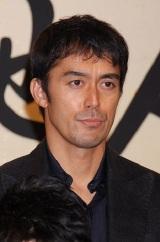 NHK大河ドラマ『天地人』の出演者発表会見に出席した阿部寛