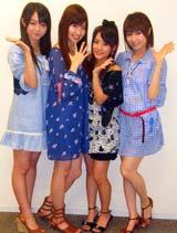 Yahoo!ライブトークに出演したAKB48(左から峯岸みなみ、小嶋陽菜、高橋みなみ、浦野一美)