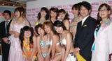 グラビアアイドルユニットYGA(よしもとグラビアエージェンシー)の設立発表会で水着姿を初お披露目