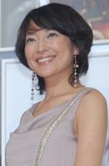 ドラマ『四つの嘘』の記者会見に出席した羽田美智子
