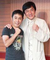 10年ぶりの対面を果したジャッキー・チェンと岡村隆史