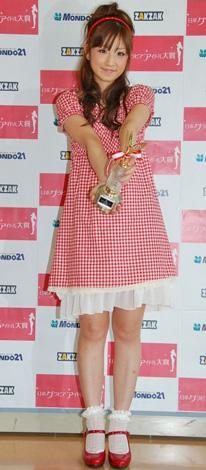 第1回日本グラビアアイドル大賞に輝いた小倉優子