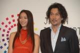 『JAPAN国際コンテンツフェスティバル Co Festa2008』の記者会見に出席した役所広司、杏