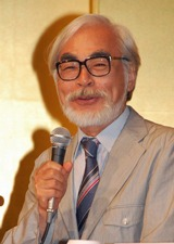 『崖の上のポニョ』の初日舞台挨拶と会見を行った宮崎駿監督