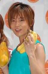 マンゴーやパパイヤなどの台湾フルーツのサンプリングイベントに出席した杉浦太陽