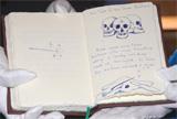 J・K・ローリング氏による手書きのイラストと文章(『吟遊詩人ビートルの物語』)
