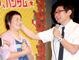 「ハンサム★スーツ」完成披露試写会舞台挨拶での大島美幸&鈴木おさむ夫婦
