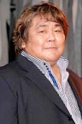 映画『20世紀少年』の完成披露イベントでの石塚英彦