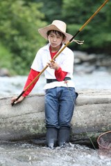 実写映画で三平を演じる須賀健太(C)2009「釣りキチ三平」製作委員会