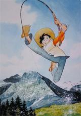 国民的人気コミックの『釣りキチ三平』