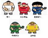 アニメキャラクターとなったデブパレード
