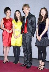 (左から)北川弘美、中越、山本、苗木優子
